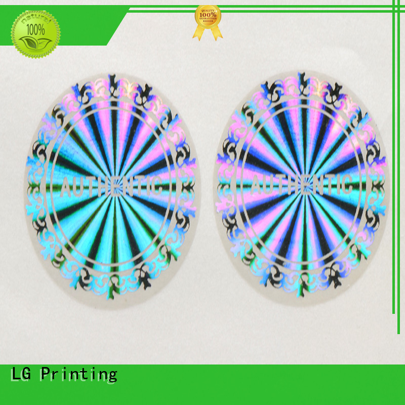 LG Printing Brand void customized thickness hologram sticker transparent factory