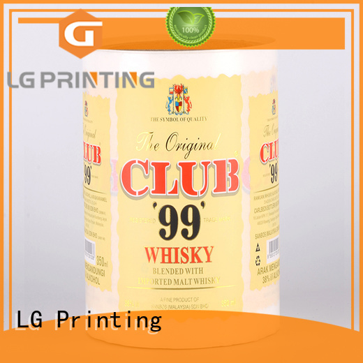 LG Printing pvc packaging solutions series for wine bottle