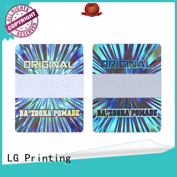 LG Printing colorful hologram sticker printing manufacturer for refrigerator