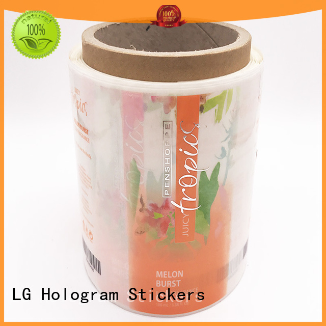 gold transparent sticker factory for wine bottle LG Printing