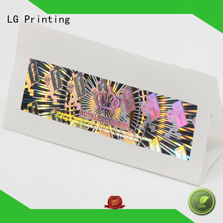 label security customized thickness hologram sticker LG Printing Brand