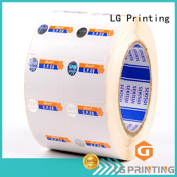 LG Printing anti security sticker printing series for box