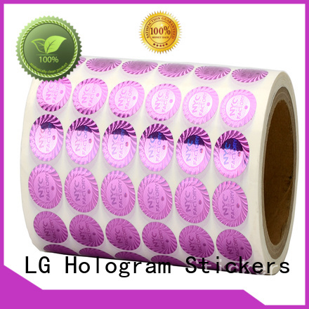 LG Printing scratched pvc sticker sheet logo for door