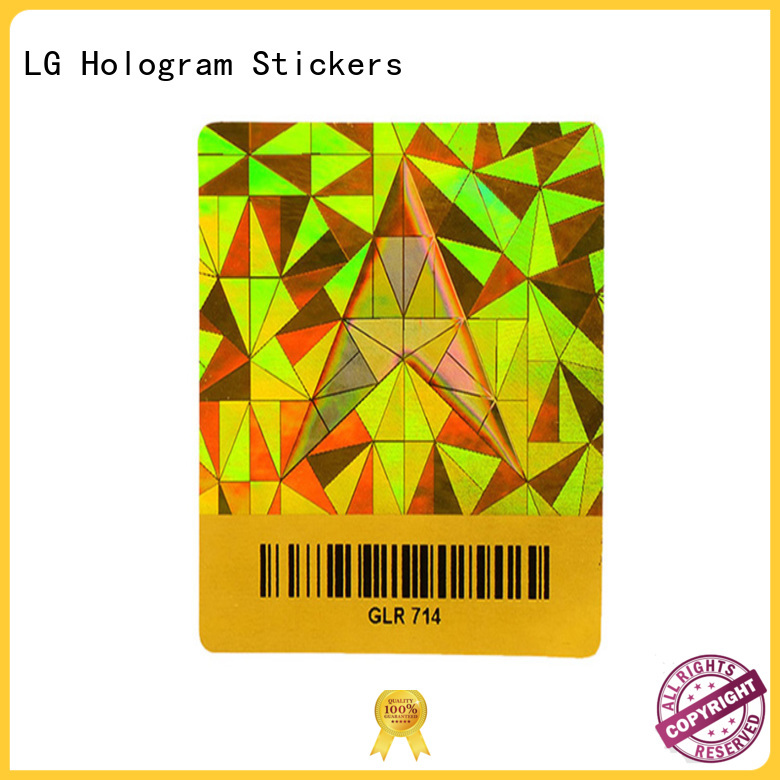 LG Printing scratched holographic sticker custom stickers for refrigerator