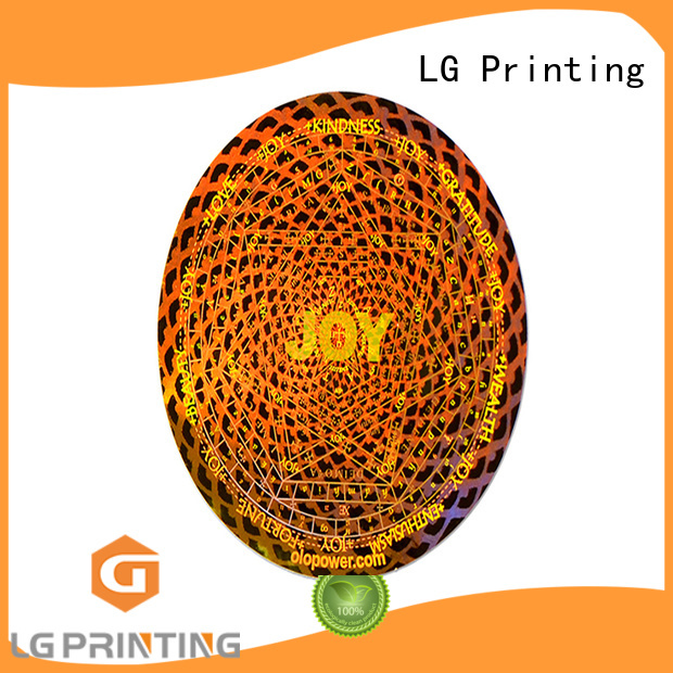 LG Printing barcode void sticker logo for table