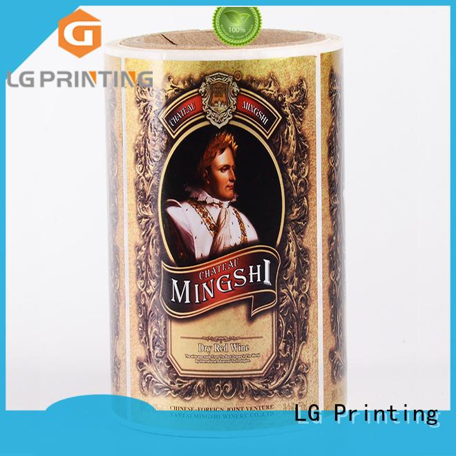 self adhesive label metallic jar red LG Printing Brand
