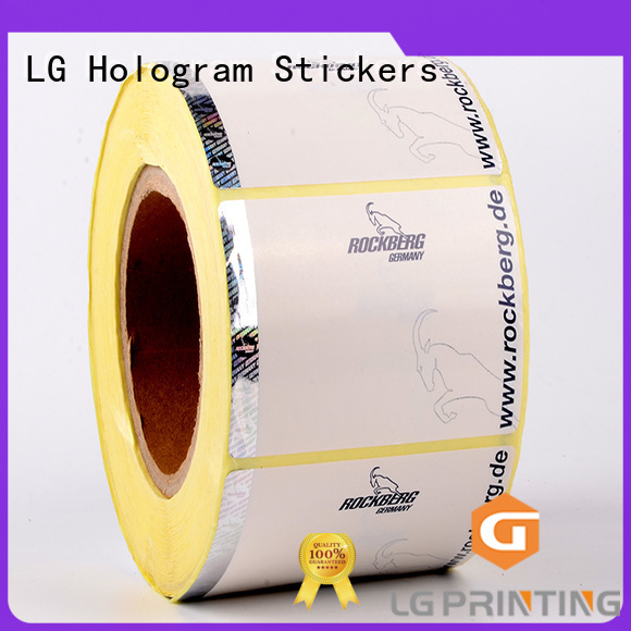 LG Printing randomly sticker security factory for products