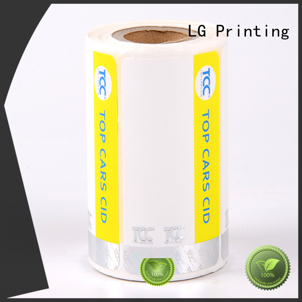 LG Printing PE security stickers series for goods