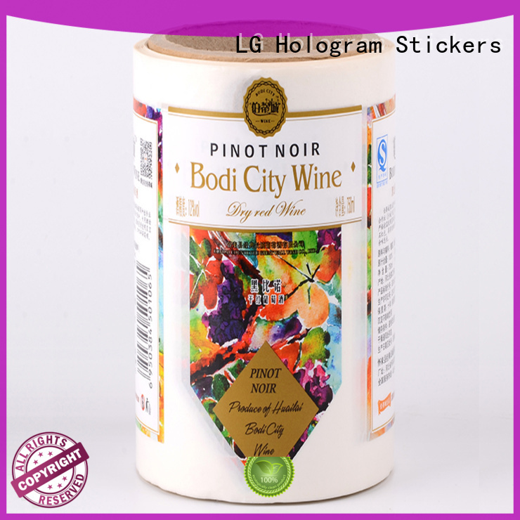 LG Printing bopp private label packaging factory for wine bottle