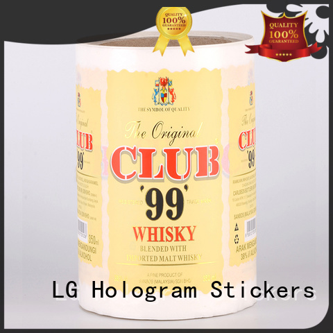 hologram adhesive labels for jars manufacturer for cans LG Printing