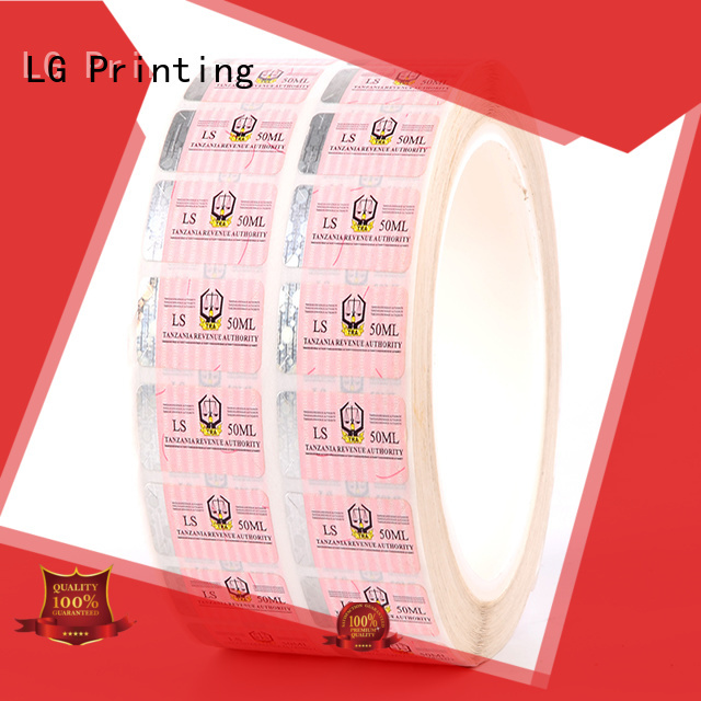 LG Printing 118 holographic seal factory for bag