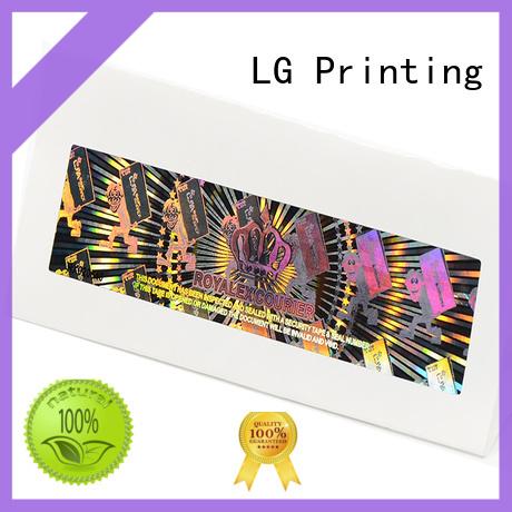 LG Printing round laser hologram sticker manufacturer for door