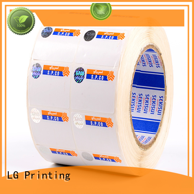 LG Printing counterfeiting custom security stickers supplier for bag