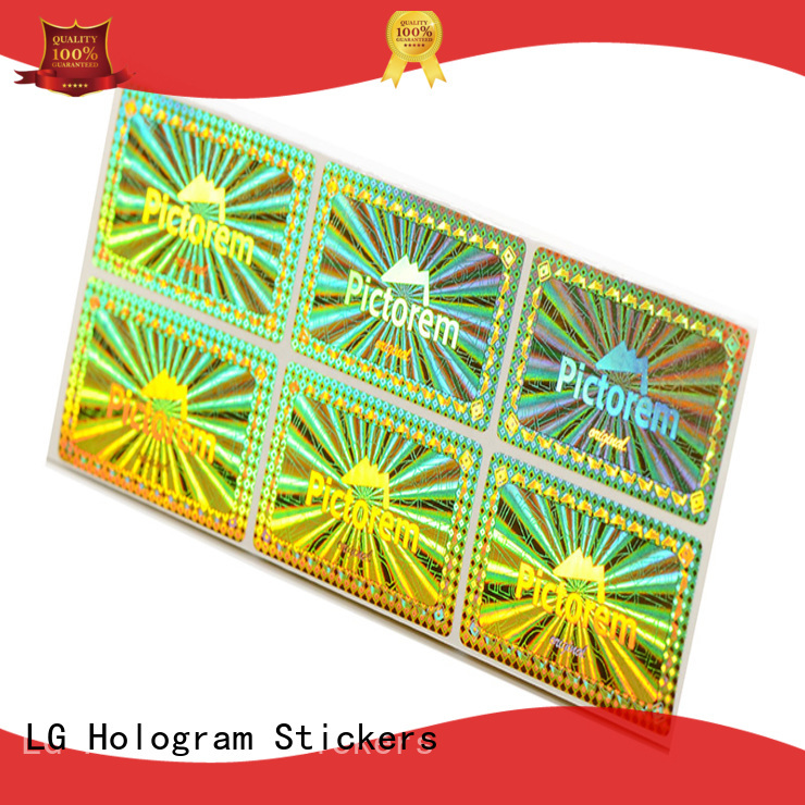 LG Printing scratch off custom made hologram stickers supplier for door