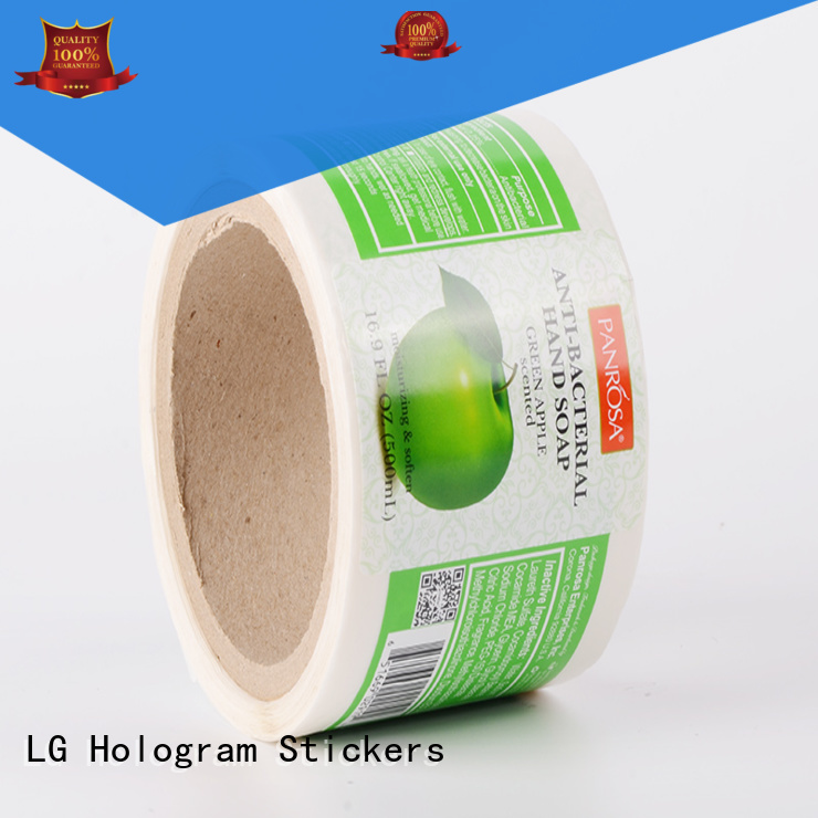 quality Custom bottle adhesive labels red LG Printing