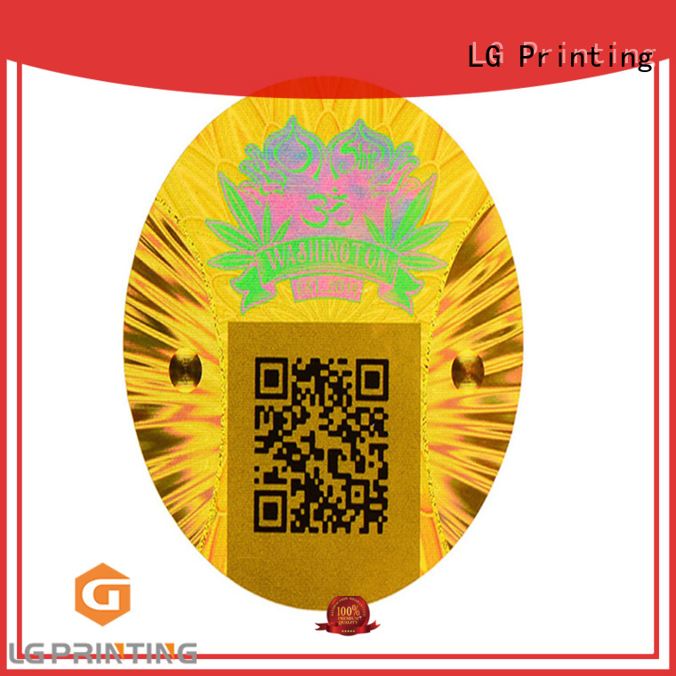 LG Printing scratched holographic vinyl stickers gold for table