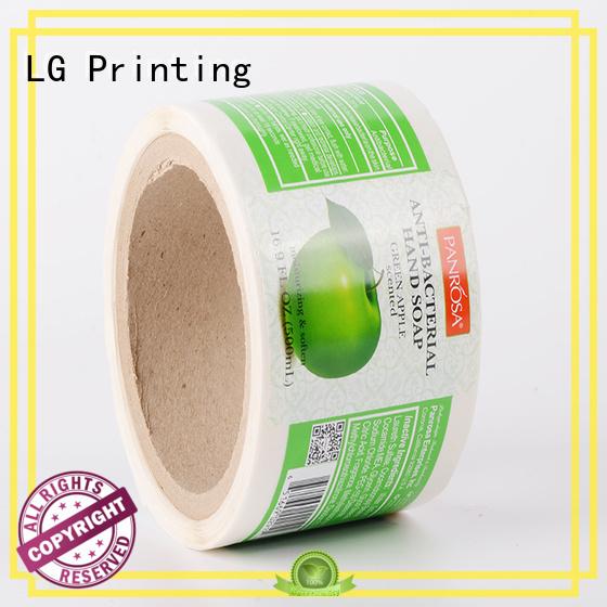 LG Printing silver sticker factory manufacturer for jars
