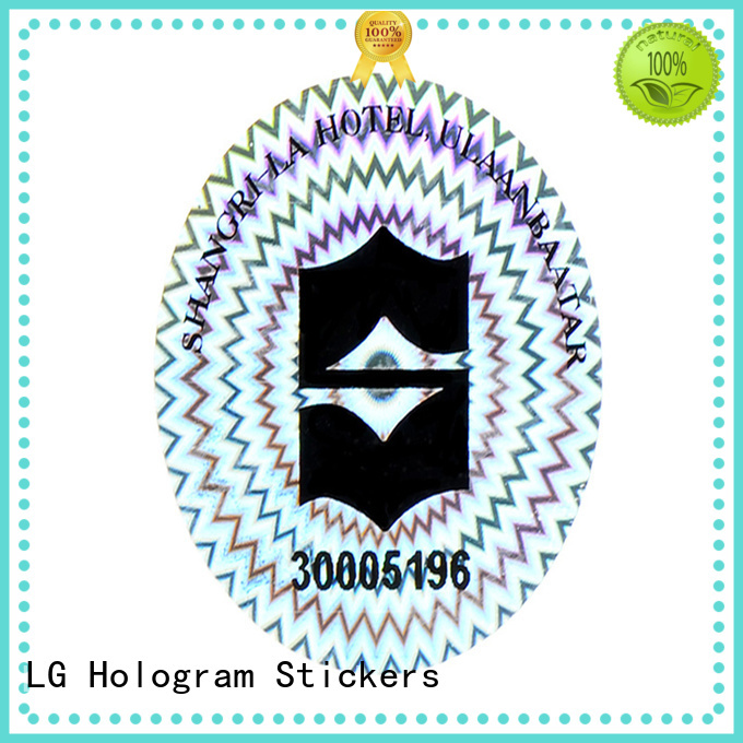 LG Printing qr holographic sticker sheets series for door