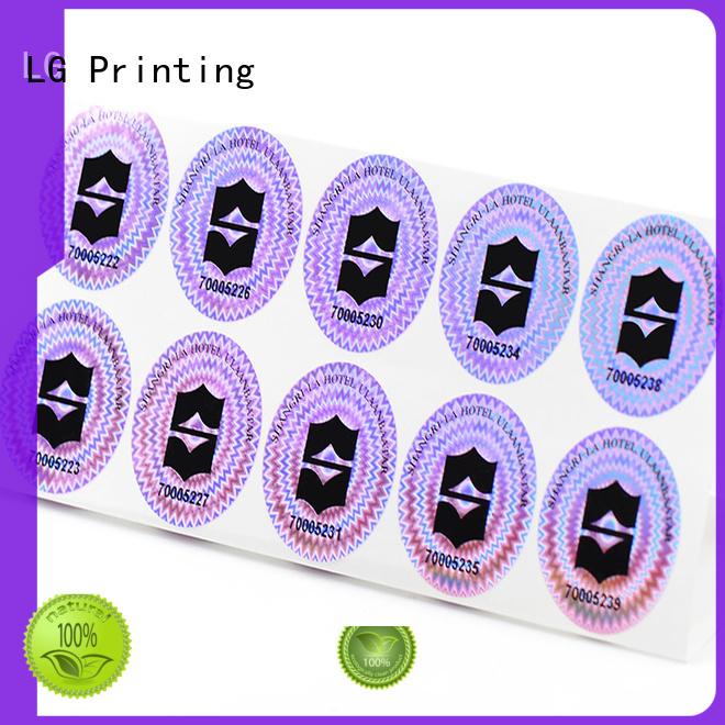 3d hologram sticker holographic custom shape LG Printing Brand hologram sticker