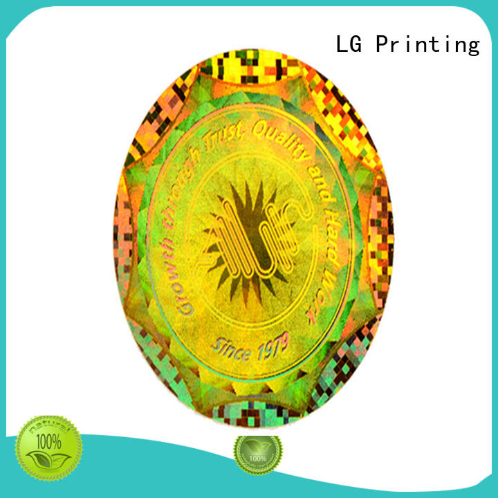 LG Printing gold panel graphic label for table