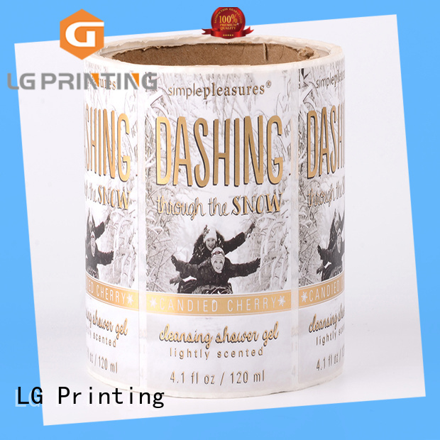 metallic pre printed labels gold factory for jars