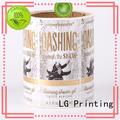 LG Printing transparent custom wine labels series for jars
