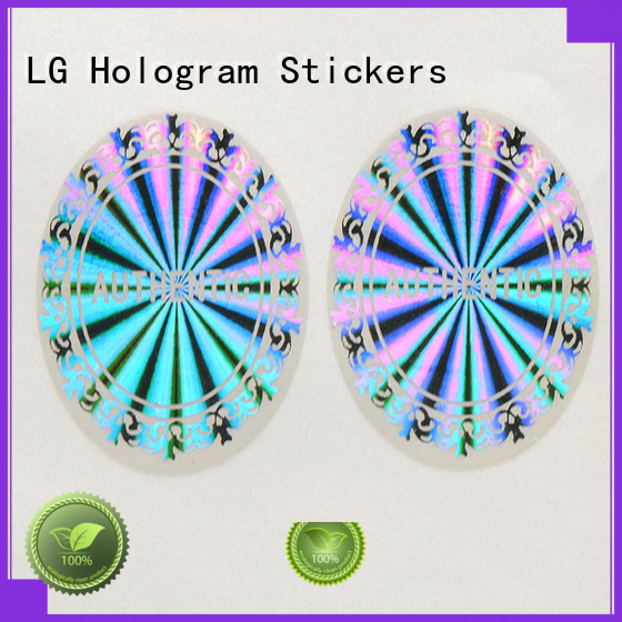 Wholesale holographic 3d hologram sticker printing LG Printing Brand
