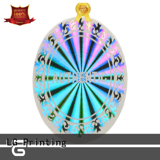 LG Printing scratch off custom holographic labels series for door