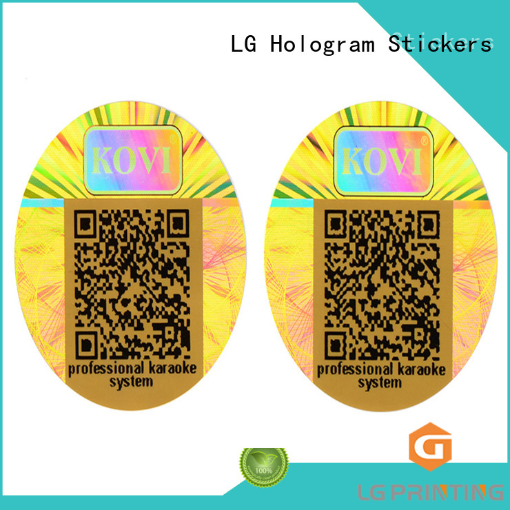 LG Printing Brand custom shape customized thickness custom 3d hologram sticker