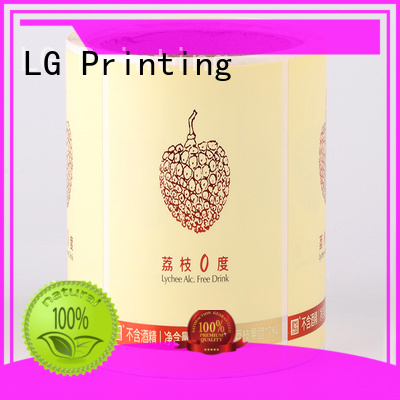 gold sticker factory pvc for jars LG Printing