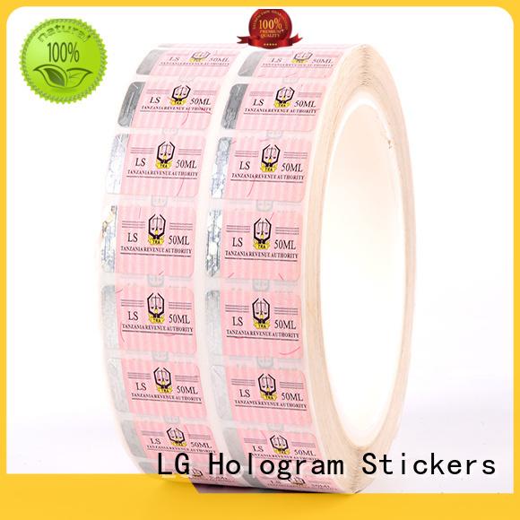 LG Printing printing custom made hologram stickers supplier for bag