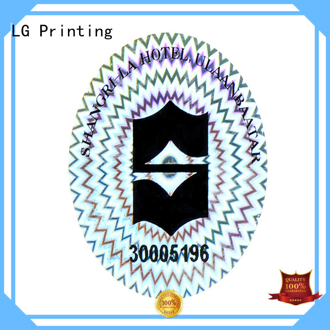 gold security void stickers supplier for box LG Printing