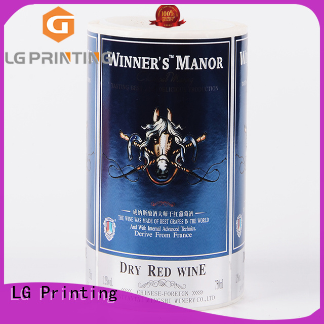 LG Printing metallic custom sticker labels factory for jars
