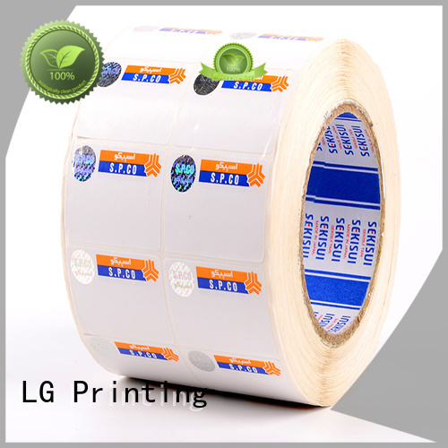 LG Printing security hologram label manufacturers supplier for goods