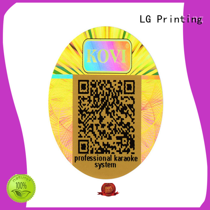 LG Printing barcode void sticker series for door