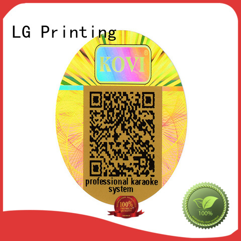 barcode custom hologram sticker scratch off for door LG Printing