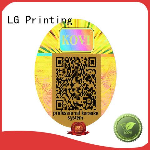 barcode custom hologram sticker scratch off for door LG Printing