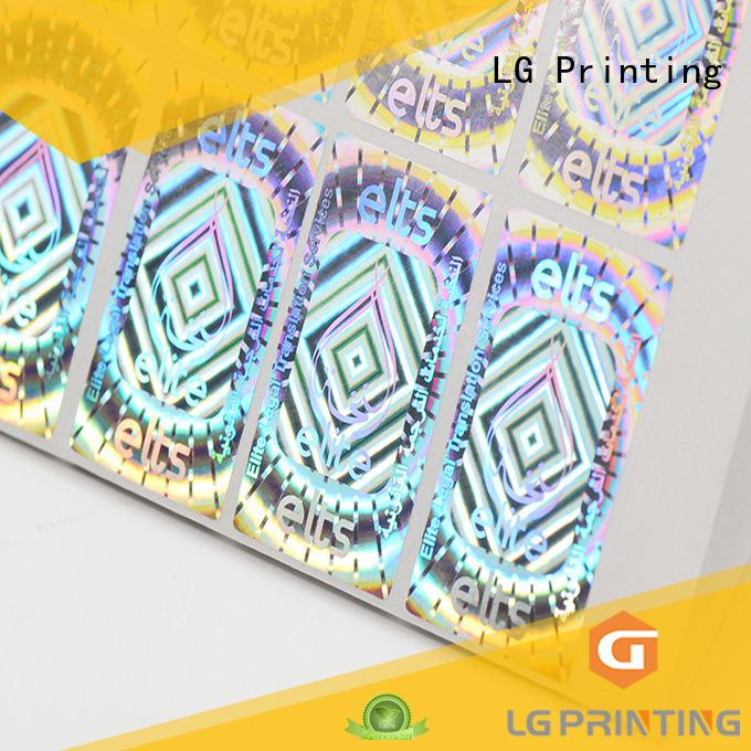 LG Printing Brand custom shape label holographic 3d hologram sticker