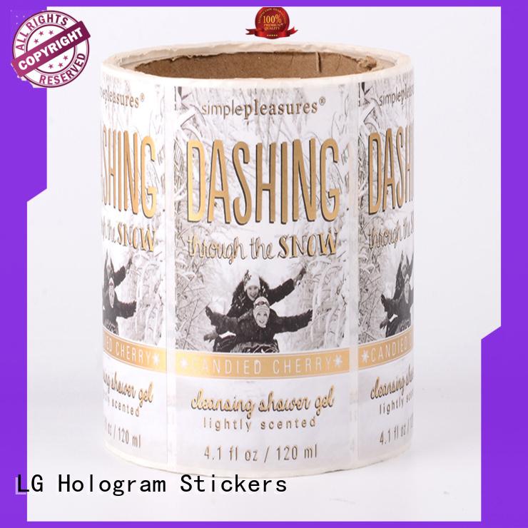 foil plastic stickers manufacturer for bottle LG Printing