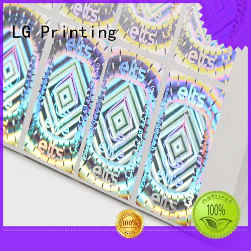 label 3d hologram sticker qr code hologram sticker LG Printing Brand qr code