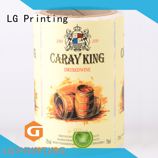LG Printing silver sticker factory manufacturer for bottle