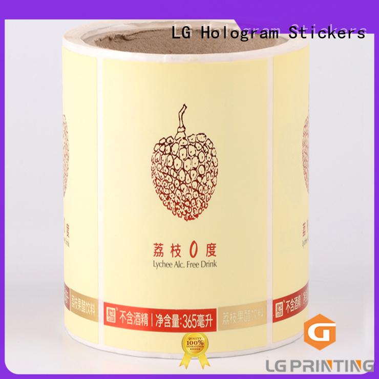 LG Printing bopp custom sticker labels series for bottle