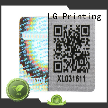 LG Printing colorful custom hologram security stickers supplier for table