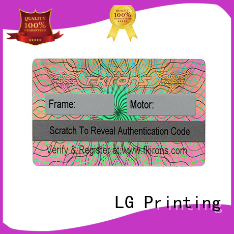 LG Printing numbering custom void stickers label for box