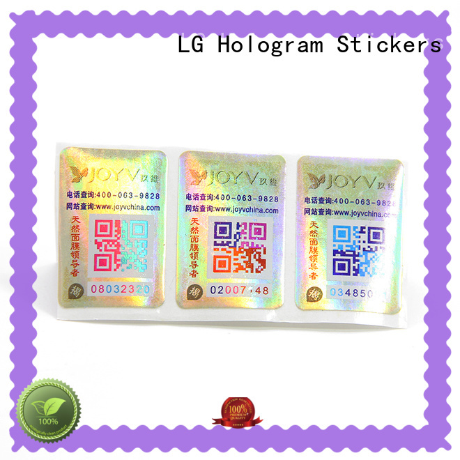 LG Printing Latest 3d hologram labels Supply for goods