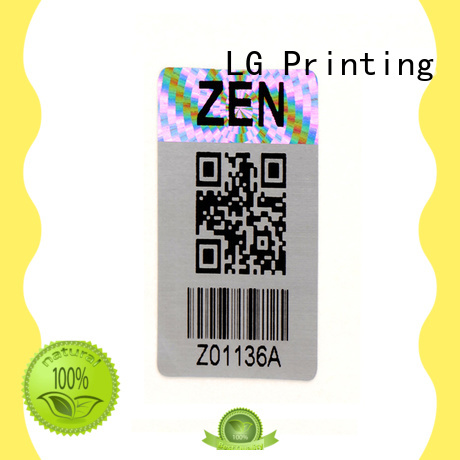 LG Printing round holographic stickers manufacturer for refrigerator