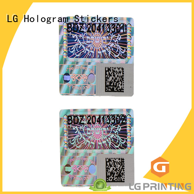 3d hologram sticker custom shape transparent hologram sticker qr code LG Printing Brand