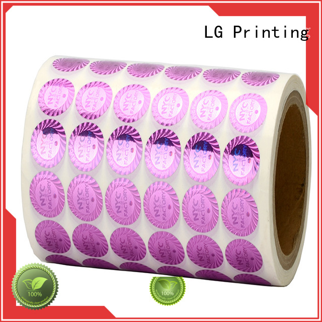LG Printing scratched pvc self adhesive stickers label for box