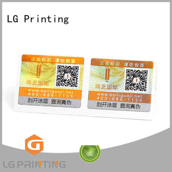 LG Printing anti tamper asset labels Suppliers for bag