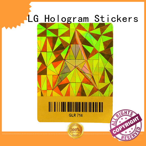 LG Printing security holo stickers series for door